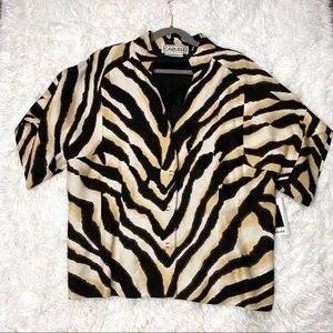 Carlisle Tiger Blazer Jacket Short Sleeve NWT
